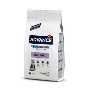 Pienso para gatos Advance Hairball