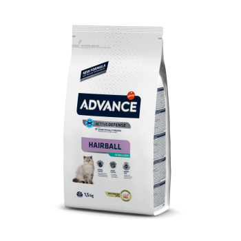 Pienso para gatos Advance Hairball Sterilized