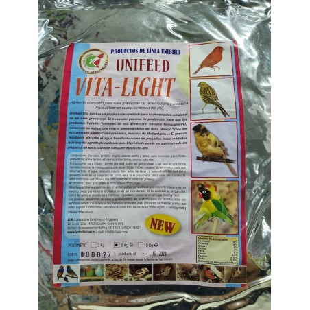 Pienso para aves LOR Unifeed Vita Light 5kg