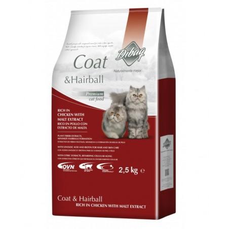 Pienso para gatos Dibaq DNM Pollo Hairball 2,5Kg