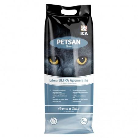 Arena para gatos aglomerante Petsan Talco 5kg