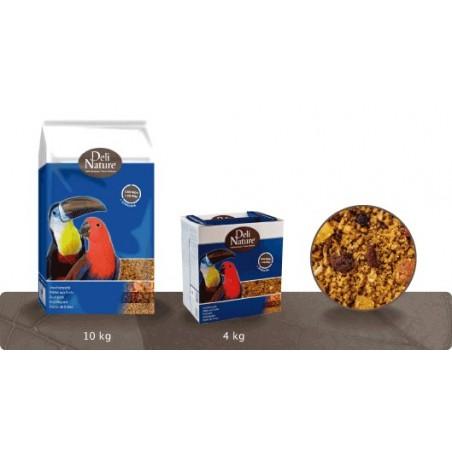 DELI NATURE Pasta de Huevo Para Grandes Periquitos y Loros 4Kg