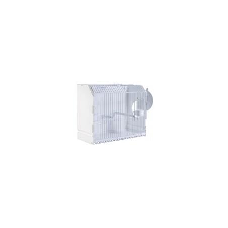 Jaula para exposicion con agujero lateral