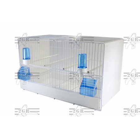 Jaula de cira 55cm laterales de plastico zincada