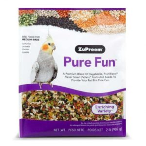 alimento pure fun medium para aves zupreem