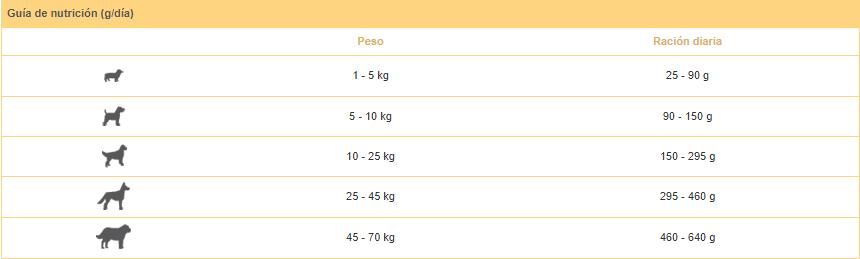Guía nutricional perros adultos